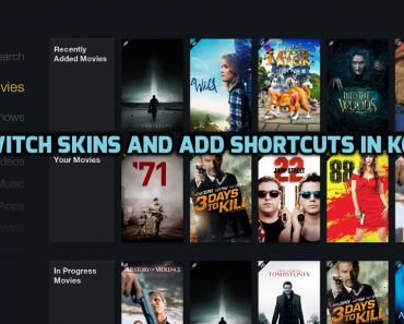 switch skins in Kodi, how to switch skins in Kodi, Switch Skins and add shortcuts in Kodi, how to switch skins in kodi