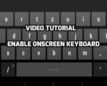 enable onscreen keyboard