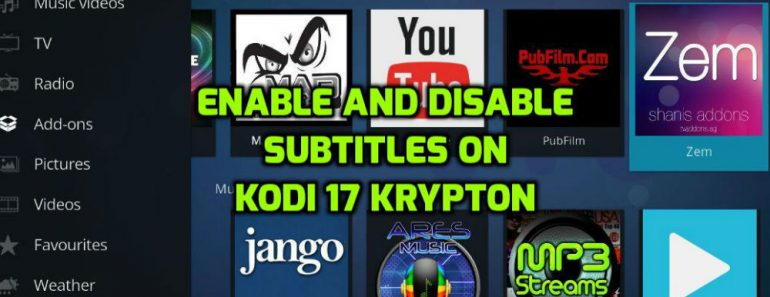 Enable subtitles on Kodi