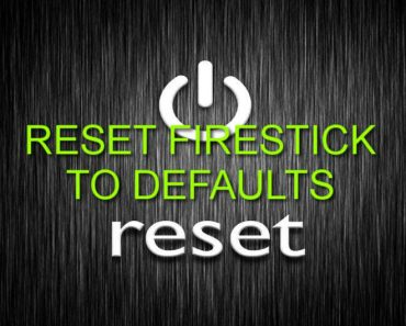 Factory Reset Firestick