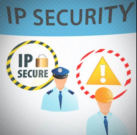 Secure data by using IP security