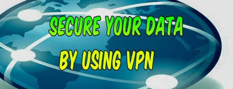 Secure data anonymously by using VPN