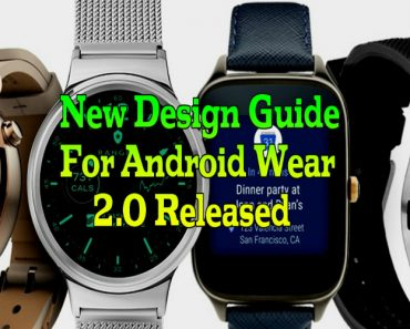 new design for android wear 2.0, design for android wear, android wear design 2.0 version