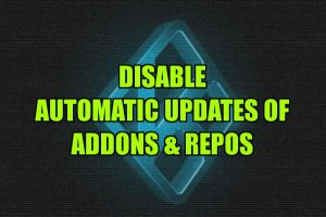 turnoff automatic updates of addons and repos on Kodi