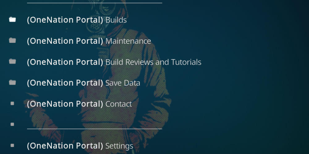 One Nation portal for kodi